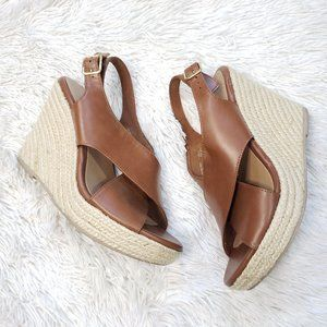 American Eagle Brown Rope Platform Sandals